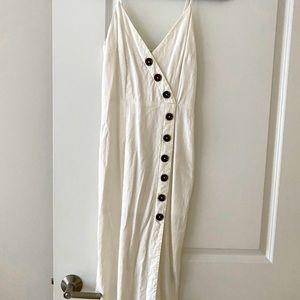 Linen mid length dress